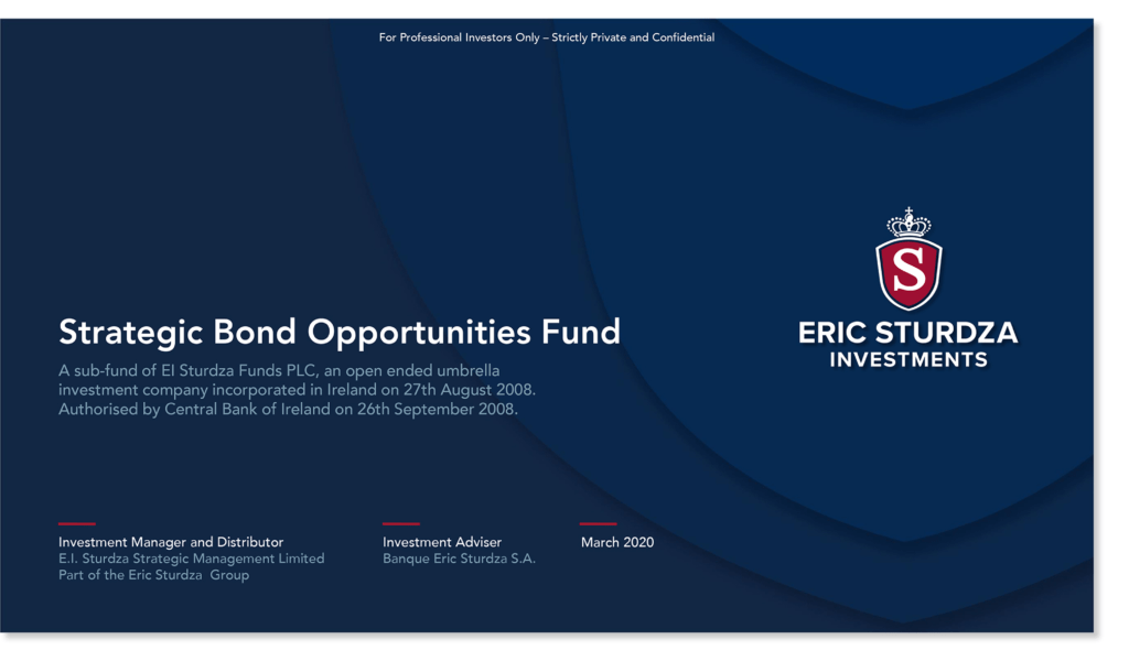 Eric Sturdza Investments - Strategic Bond Opportunities Fund Presentation - March 2020
